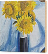 Back Bay Sunflowers Wood Print