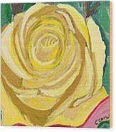 Back Bay Yellow Rose Wood Print