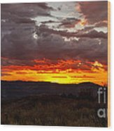 Back Country Sunset Wood Print
