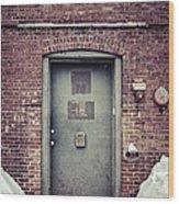 Back Door Alley Way Wood Print