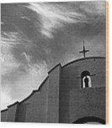 Back Entrance Arch San Xavier Del Bac Mission 1979 Wood Print