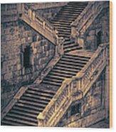 Back Entrance Redux Wood Print by Joan Carroll
