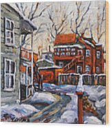 Back Lanes 02 Montreal By Prankearts Wood Print
