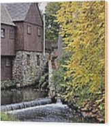 Back Of The Plimoth Grist Mill  Wood Print