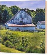 Back Roads Country Barn Wood Print