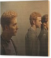 Back Stage With Nsync Wood Print