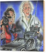 Back To The Future Wood Print