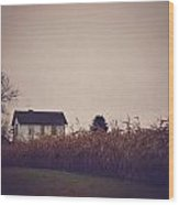 Back To The Old House Rustic Farmhouse Photo Wood Print
