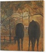 Back To The Stable Wood Print