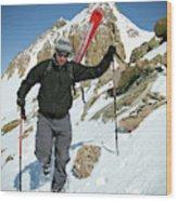 Backcountry Skiing, Citadel Peak, Co Wood Print