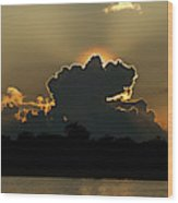 Backlit Clouds During Sunset Over Lago Wood Print