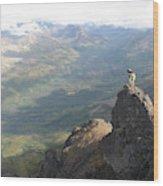 Backpackers Hike In Chugach State Park Wood Print