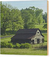 Backroads Barn Wood Print by Robert J Andler