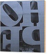 Backside Of Hope In Cyan Wood Print