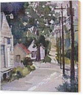Backstreet Wood Print