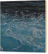 Backwash Wood Print