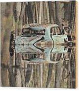 Backwater Byway Wood Print