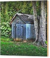 Backyard Barn Wood Print