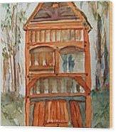 Backyard Play Hut Wood Print
