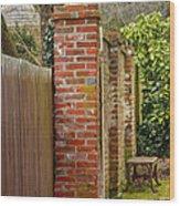 Backyard Solitude Wood Print