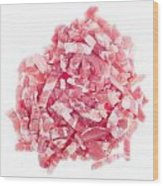 Bacon Pieces Wood Print