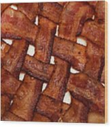 Bacon Weave Square Wood Print