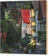 Bad Hindelang Austria At Dusk Wood Print