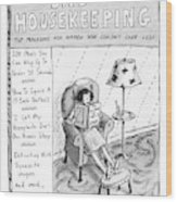 Bad Housekeeping The Magazine For Women  Who Wood Print