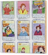 Bad Mom Cards Collect The Whole Set Wood Print