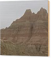Badlands Beauty  Wood Print by Diane Mitchell