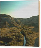 Badlands Coulee Wood Print