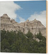 Badlands National Park View Wood Print