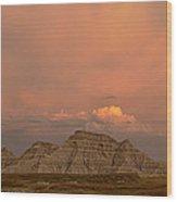 Badlands Softlight South Dakota Wood Print