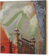 Badshahi Mosque 2 Wood Print by Catf