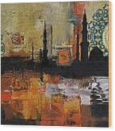 Badshahi Mosque Motives Wood Print