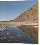Badwater Basin In Death Valley National Park In Inyo County Wood Print