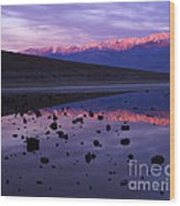 Badwater Death Valley Wood Print
