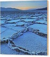 Badwater Dusk, Death Valley, California Wood Print