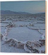 Badwater Salt Flats Wood Print