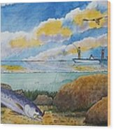 Fishing Baffin Bay Texas  Wood Print