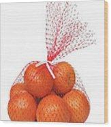 Bag Of Oranges Wood Print