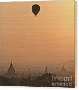 Bagan Sunset - Myanmar Wood Print