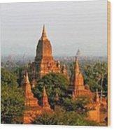 Bagan Temples Wood Print