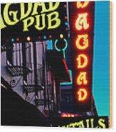 Bagdad Pub Wood Print by Gail Lawnicki