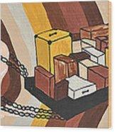 Baggage Wood Print