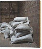 Bags Of Coffee Beans Wood Print