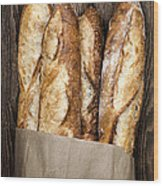Baguettes  Wood Print by Elena Elisseeva
