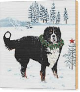 Bah Humbug Merry Christmas Large Wood Print