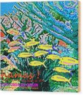 Bahamas Coral Reef Wood Print