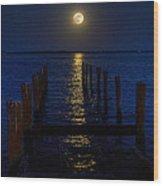 Bahamas Nocturne Wood Print